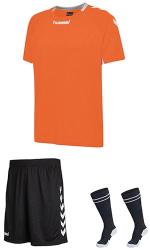 f1baea16bf2 SX Sports - Hummel Core Team Kit - Tangerine - Black (5006)