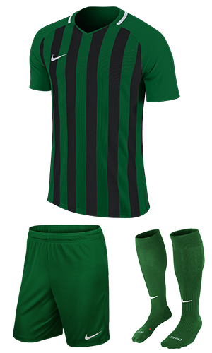 2d429078f09 SX Sports - Nike Striped Division III Short Sleeve Kit - Pine Green - Black  (302)