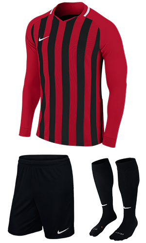 SX Sports - Nike Striped Division III Long Sleeve Kit - University Red -  Black (657) b376a3e50