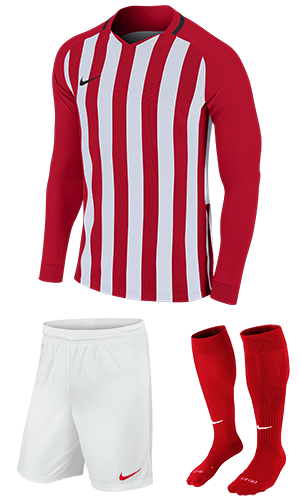 6fa3d8b7c50 SX Sports - Nike Striped Division III Long Sleeve Kit - University Red -  White (658)