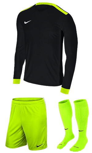854a0e35 SX Sports - Nike Park Derby II Long Sleeve Kit - Black - Volt (010)