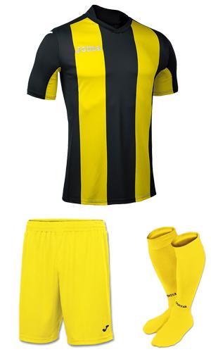 9c1f41240e5 SX Sports - Joma Pisa V Short Sleeve Kit - Black - Yellow (109)