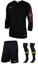 308fcd7c8b1 Nike Gardien Long Sleeve Goalkeeper Kit - Black - Volt (010)